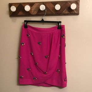 Anthropologie Pink Skirt Size 2